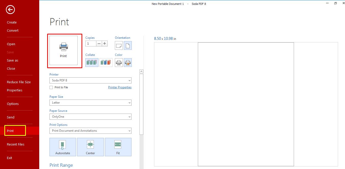 How to print a file in Soda PDF – Soda PDF