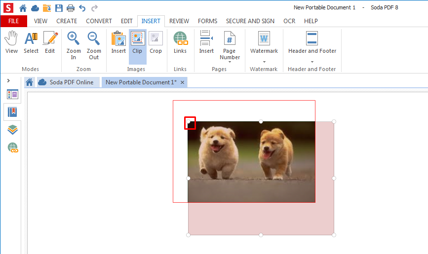 How to use the clip/crop feature – Soda PDF